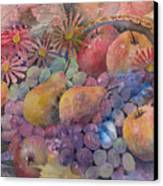Cornucopia Of Fruit Canvas Print by Arline Wagner