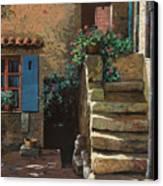Cortile Interno Canvas Print by Guido Borelli