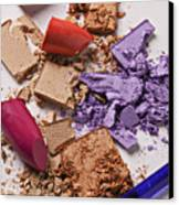 Cosmetics Mess Canvas Print by Garry Gay