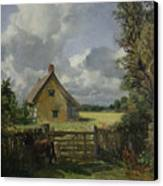 Cottage In A Cornfield Canvas Print by John Constable