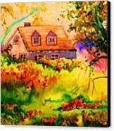 Cottage In Maine Canvas Print
