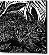 Cottontail Block Print Canvas Print by Ellen Miffitt