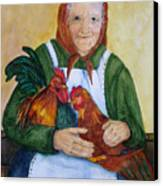 Country Chickens Canvas Print