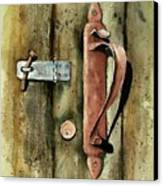 Country Door Lock Canvas Print by Sam Sidders