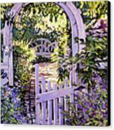 Country Garden Gate Canvas Print