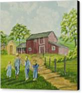 Country Kids Canvas Print
