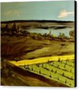 countryside/VINEYARD Canvas Print by Marie Bulger