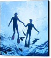 Couple At The Surface Canvas Print