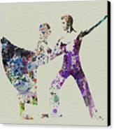 Couple Dancing Ballet Canvas Print