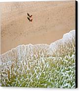 Couple Walking On Tallow Beach Canvas Print