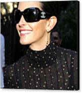 Courteney Cox Wearing Chanel Sunglasses Canvas Print by Everett