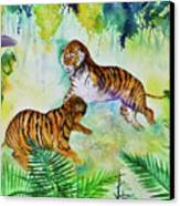 Courting Tigers. Canvas Print by Larry  Johnson