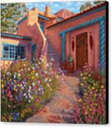 Courtyard Garden In Taos Canvas Print