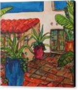 Courtyard In Rancho Santa Fe Canvas Print