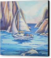 Cove Sailing Canvas Print