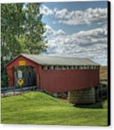 Covered Bridge In Ohio Canvas Print by Pamela Baker