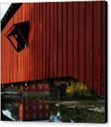 Covered Bridge Reflections Canvas Print