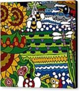 Cowbirds Canvas Print by Rojax Art