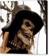Cowboy Skeleton Canvas Print