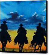 Cowboy  Sunset Canvas Print by Stefon Marc Brown