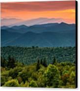 Cowee Sunset. Canvas Print