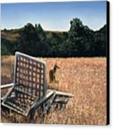 Coyote And Rabbit Canvas Print by Lance Anderson