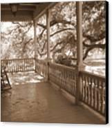 Cozy Southern Porch Canvas Print by Carol Groenen