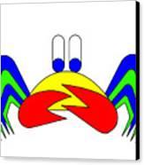Crab-mac-claw The Crab Canvas Print