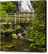 Crabtree Falls And Bridge Canvas Print by Andrew Soundarajan