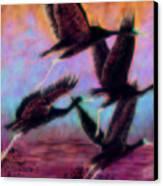 Cranes In Flight Canvas Print