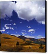 Crazy Blue Sky Canvas Print by Barbara Schultheis