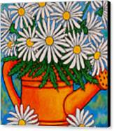 Crazy For Daisies Canvas Print