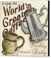 Cream Coffee 1 Canvas Print by Debbie DeWitt