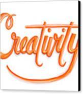 Creativity Canvas Print by Cindy Garber Iverson
