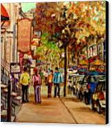Crescent Street Montreal Canvas Print