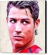 Cristiano Ronaldo Canvas Print by Wu Wei