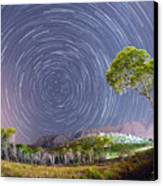 Croatia Star Trails Canvas Print