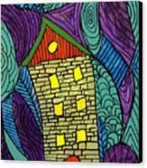 Crooked Yellow Brick House Canvas Print