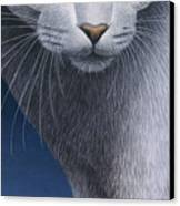 Cropped Cat 5 Canvas Print