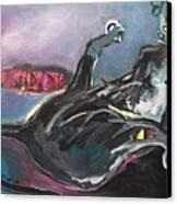 Crossed Eyed Cat Canvas Print