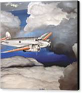 Crossing Over  Amelia Earharts Final Flight Canvas Print