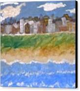 Crowded Beaches Canvas Print