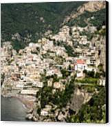 Crowded Slopes Of Amalfi Canvas Print