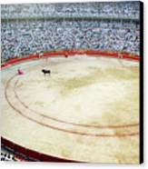 Crowds Watching A Bullfight During The July San Firmin Fiesta In Pamplona Canvas Print