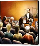 Crown Kevin Gowdey Delivers Opening Address At The Rafferty Trial Canvas Print by Alex Tavshunsky