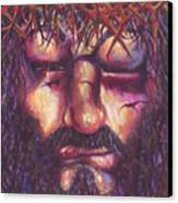 Crucifixion. Master Fully Done Canvas Print by Jean-Marie Poisson