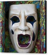 Crying Mask In Box Canvas Print by Garry Gay