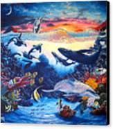 Crystal Shore Canvas Print