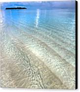 Crystal Water Of The Ocean Canvas Print by Jenny Rainbow