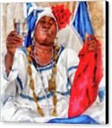 Cuban Character Canvas Print by Dawn Currie